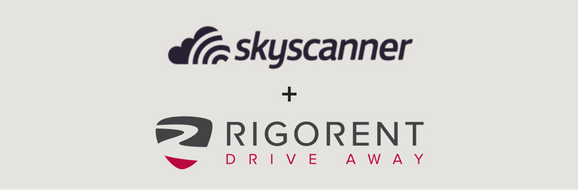 Skyscanner and Rigorent drive away logos