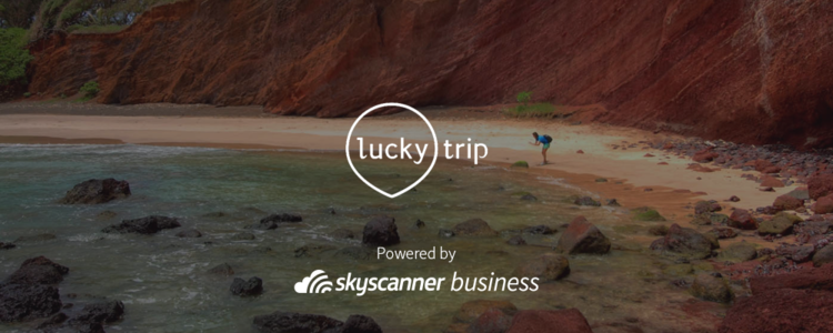 LuckyTrip is powered by Skyscanner