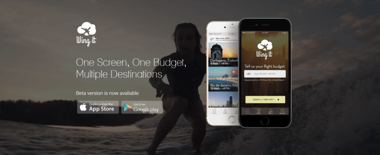 Wing it - one screen, one budget, multiple destinations