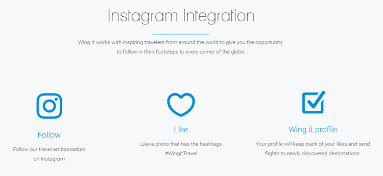 Wing it - Instagram integration