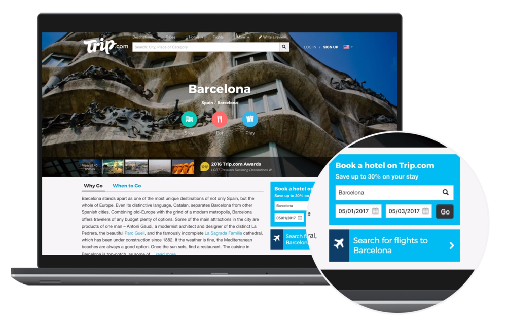 Generate eye catching travel promotions on your site with our fully customisable widgets. - Designed in multiple sizes and formats to suit every website. Sign up with one of our affiliate network partners to earn commission from flight bookings.