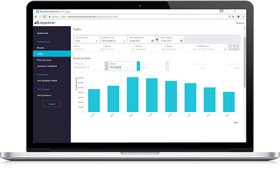 Performance Analytics for Skyscanner Partners