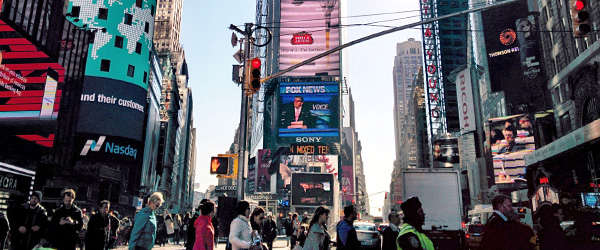 Street with advertisements