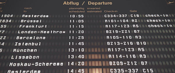 Departure Flight Board