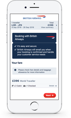 Direct Booking - British Airways on Skyscanner