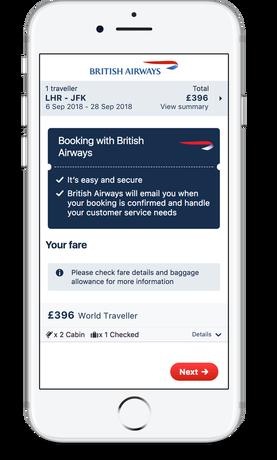 British Airways on Skyscanner Direct Booking