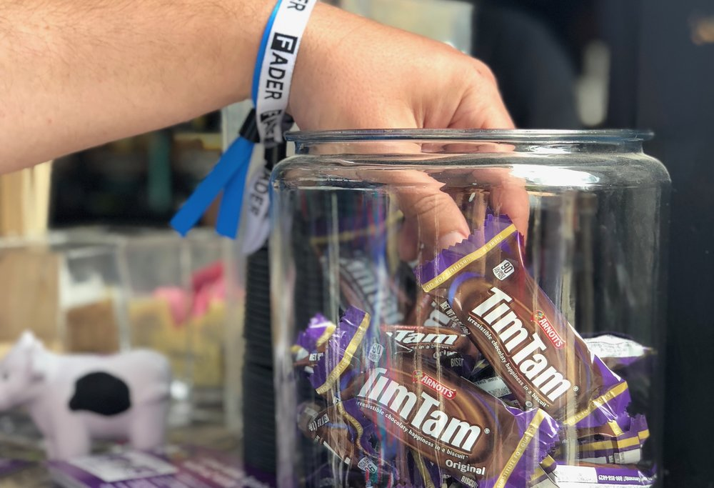 TIM TAM @ SXSW - Drove awareness of Tim Tam's Australian origins at SXSW via strategic partnerships. Activity included a branded Tim Tam Slams music stage programmed by Sounds Australia, Tim Tam cocktails and desserts, and Tim Tam Sampling across three SXSW venues - Twitter House, AUSTRALIAHOUSE, and the SXSW Trade Show.