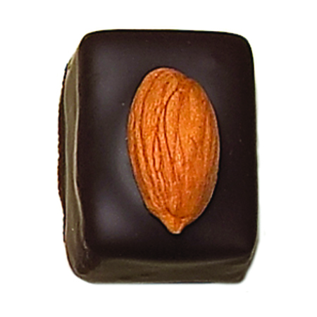 MARZIPAN Marzipan topped with a roasted almond