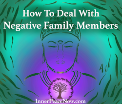 A video response on how to deal with negative family members, and what to do if someone expects you to do too much for them...