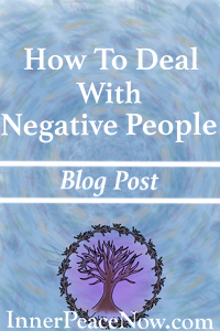A response to a question on how to deal with negative people in social situations...