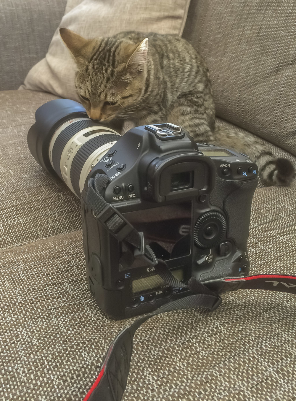 During a recent after shoot consultation, I noticed the equipment was being thoroughly inspected to ensure it was up to scratch!
