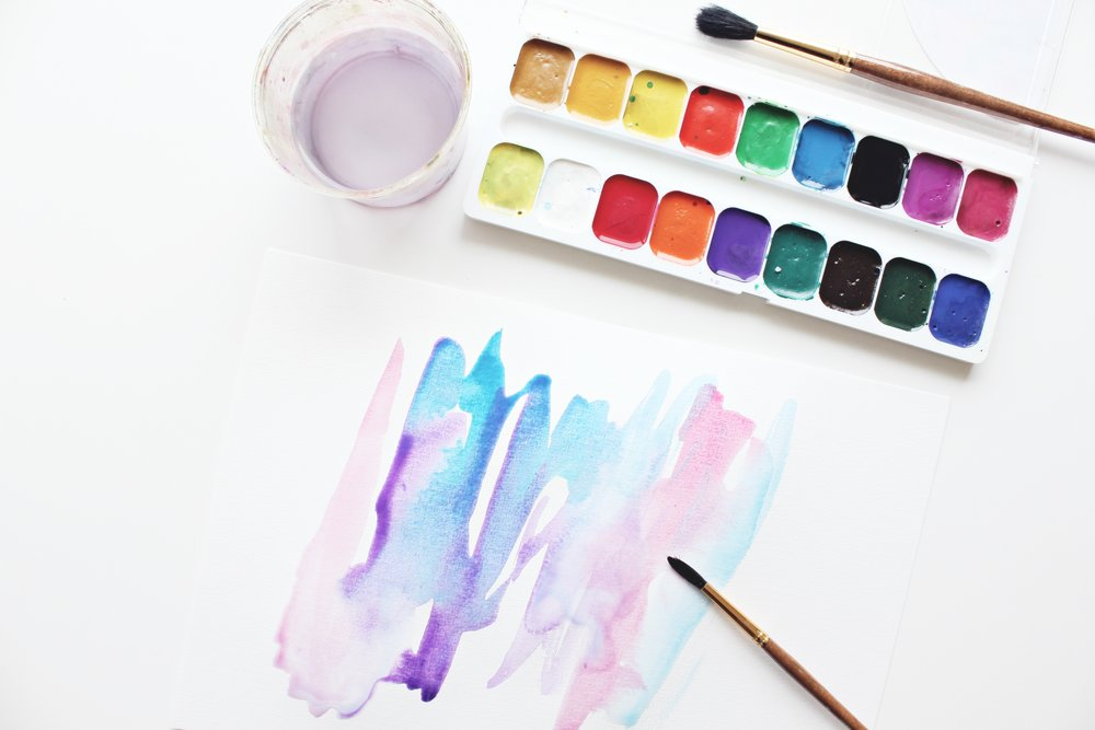 Tutorial on how to create a colorfol and interesting looking watercolor background using plastic wrap!