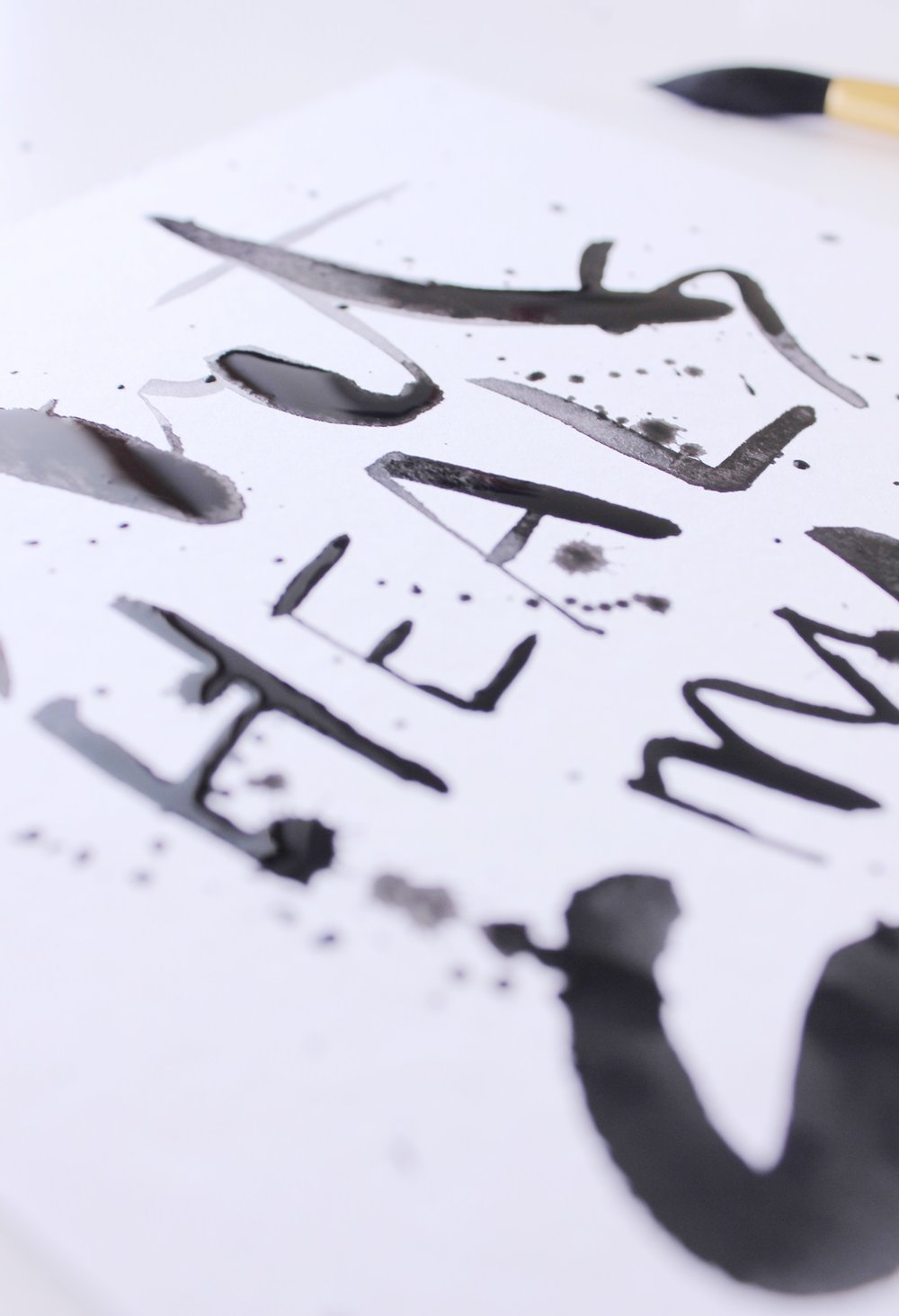 """Art heals my soul"" Calligraphy illustration by Laura Bei"
