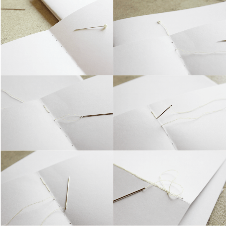 Easy to follow tutorial on how to sew a notebook!
