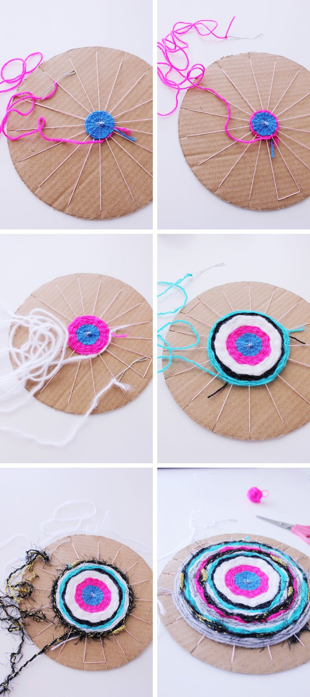Making a round weaving that can be used as a coaster or beautiful table decoration. Full tutorial!