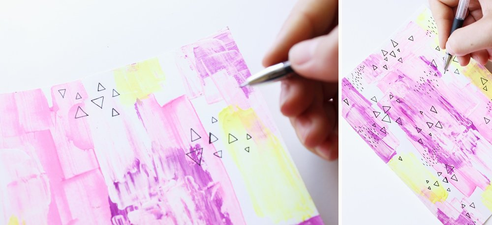 Tutorial on how to use a ruler instead of a brush and create this kind of background!