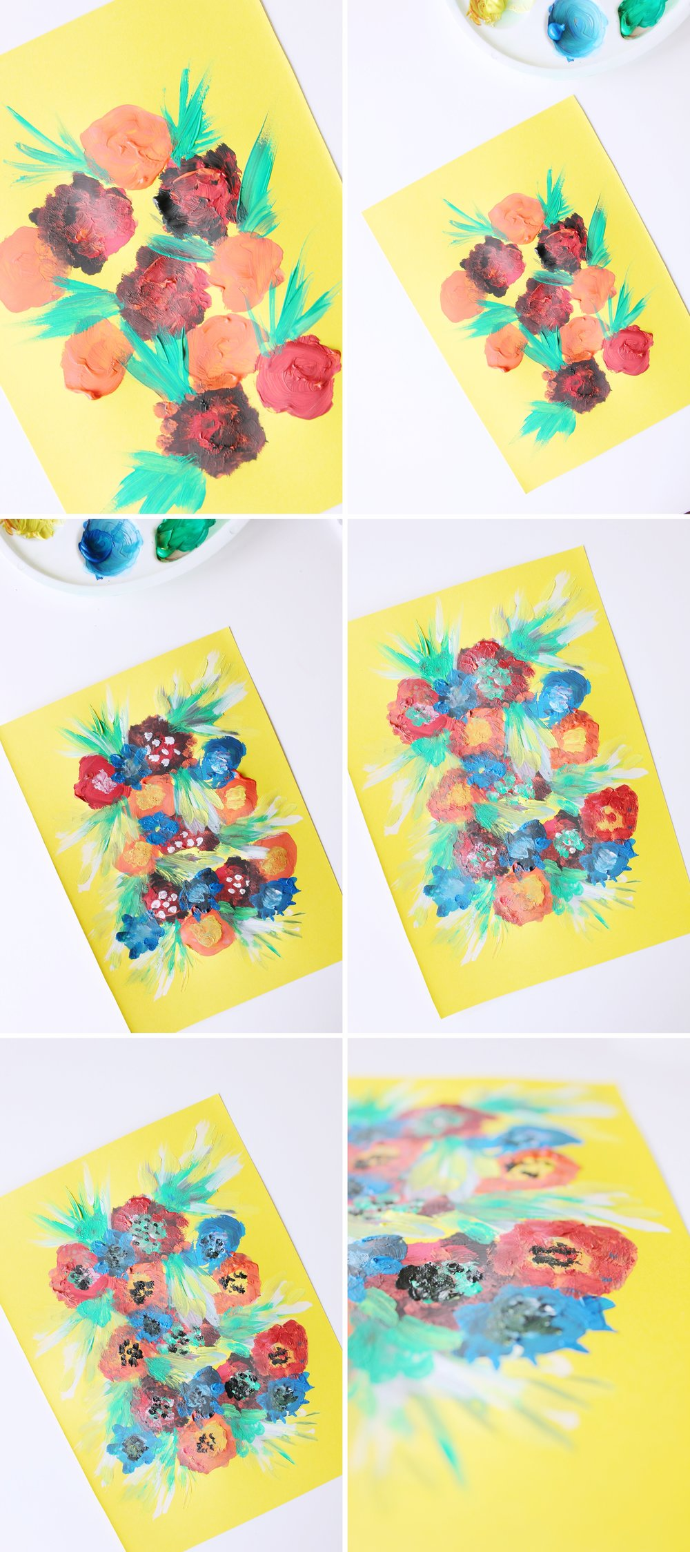 A fun and colorful tutorial on how to draw with gouache paints on colored cardboard!