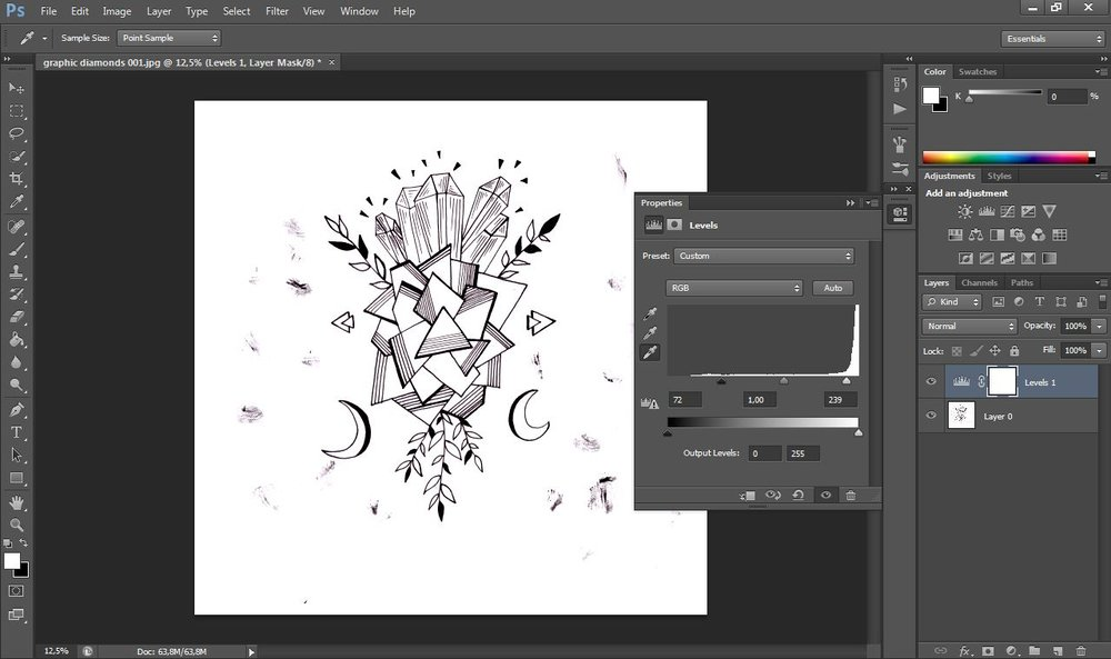 Step by step tutorial on how to remove the background of your artwork in photoshop.