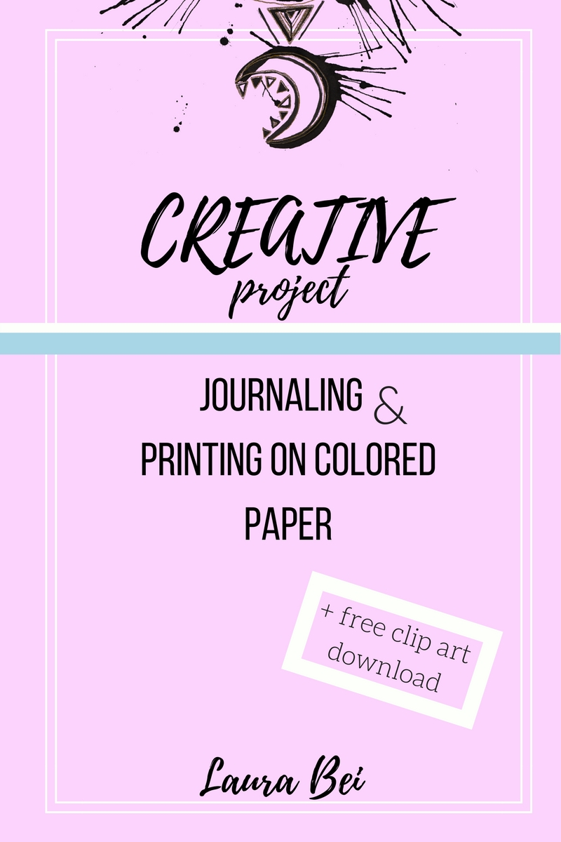 Creative activities. Journaling and making collages with prints on colored paper. Free download - butterfly clip art!