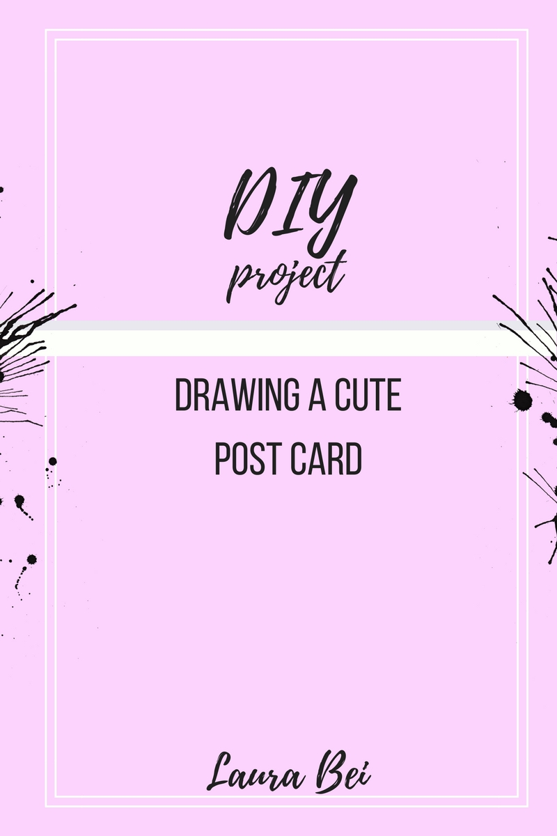 Fun and easy drawing project. Creating a post card.