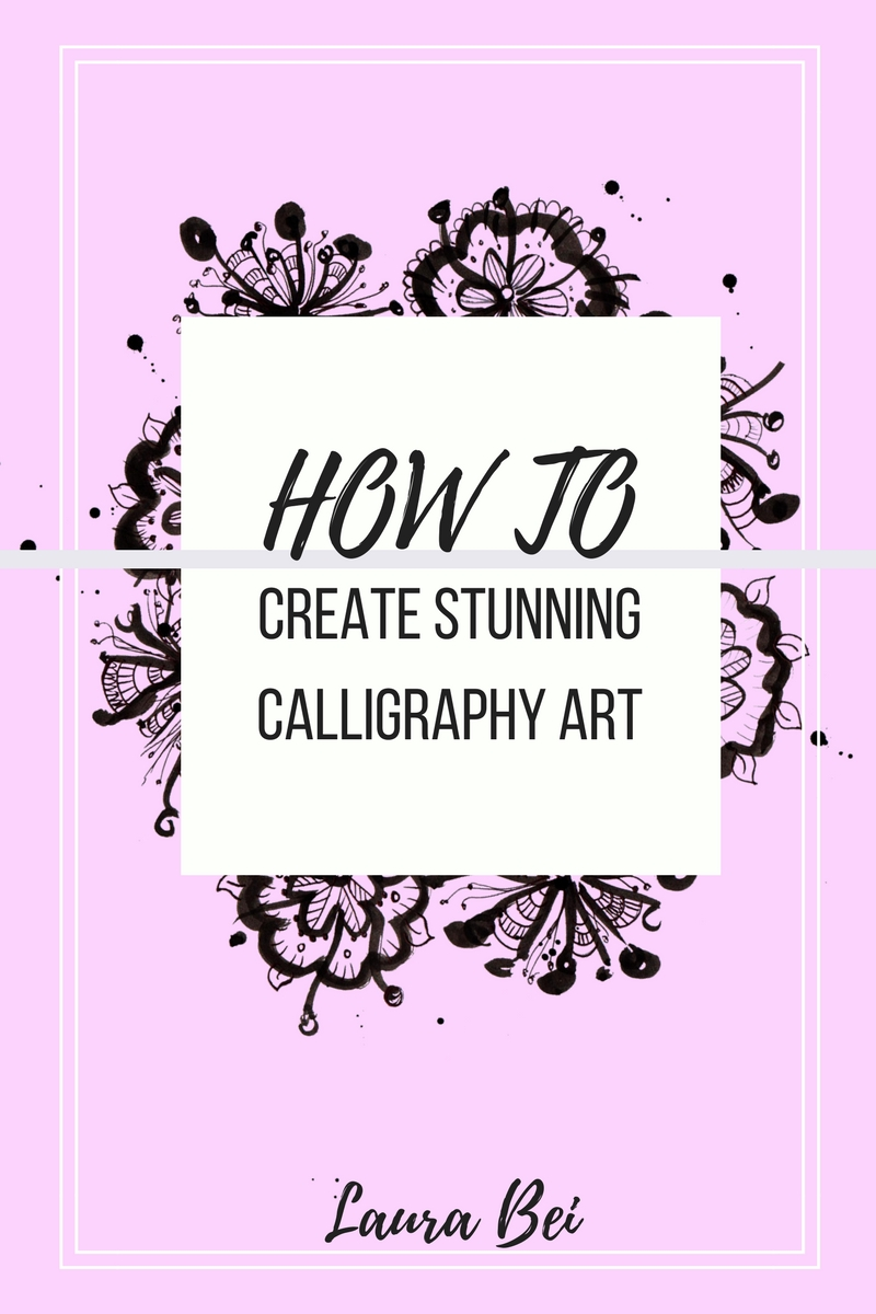 Creating a quick calligraphy illustration. Tutorial.