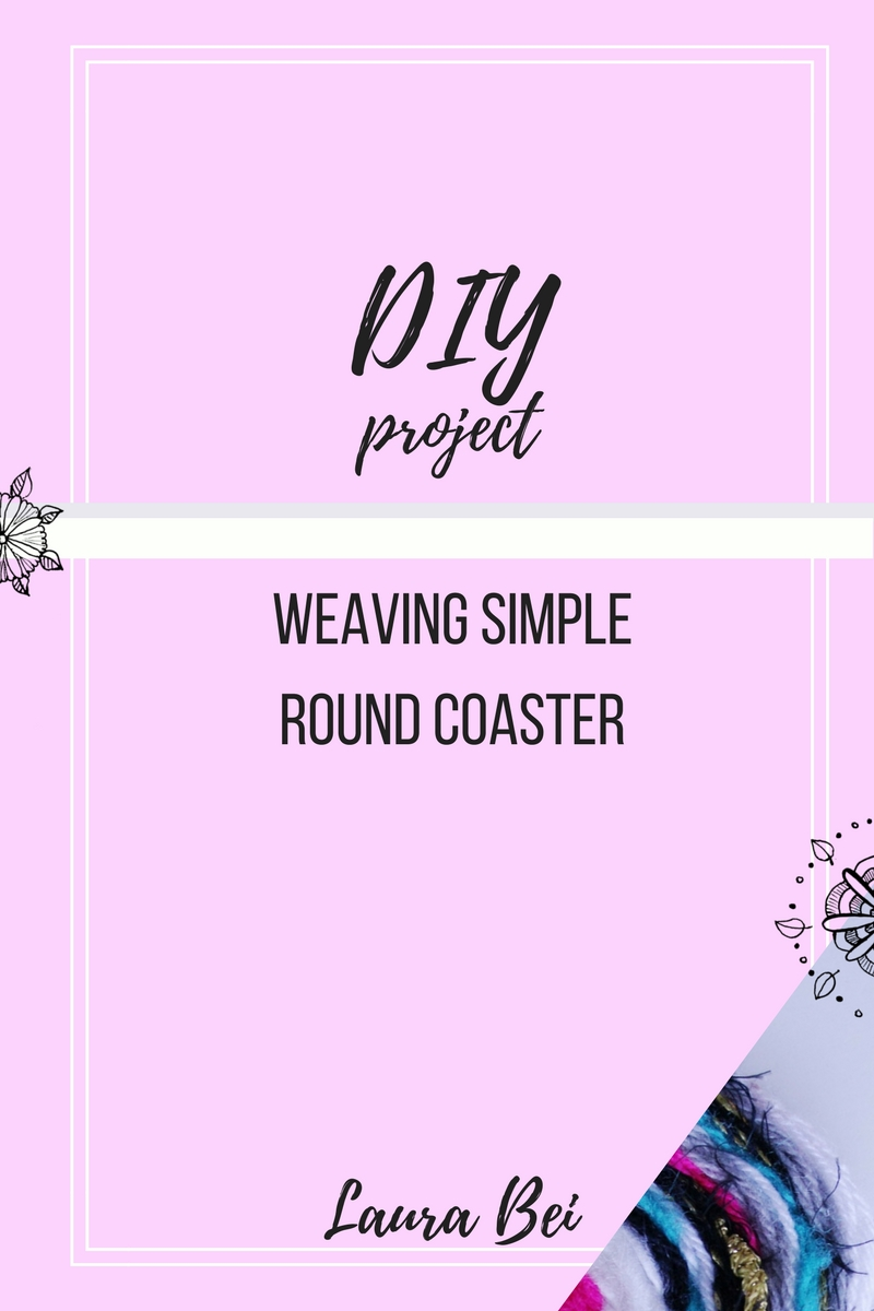 Diy tutorial. Making round weaved coaster. Get crafty and make yourself or a friend a gift!