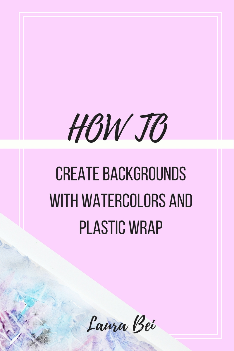 Creating a watercolor background using plastic wrap. Simple and quick art project to try with kids. Make colorful backgrounds for other artworks.