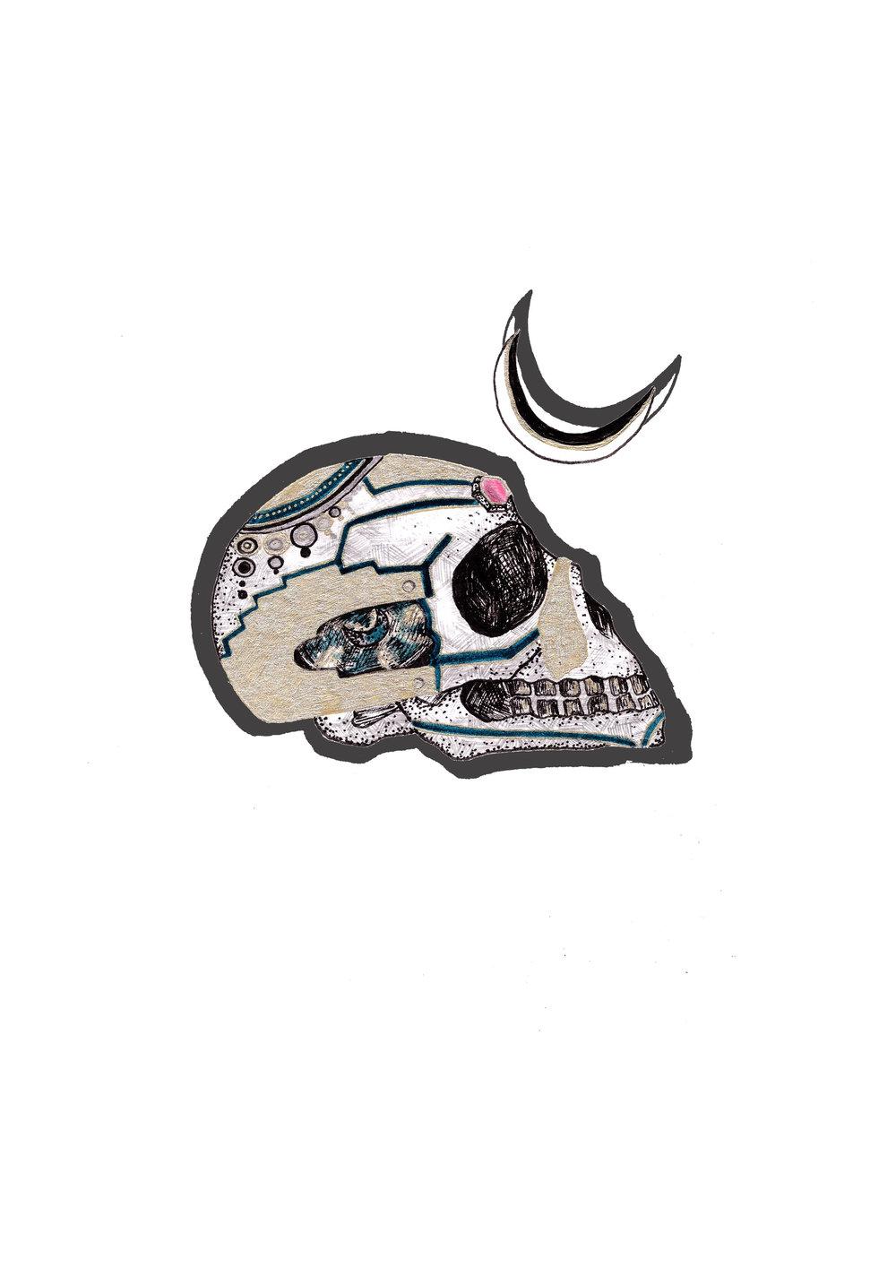 Cute pastel skull wallpaper. FREE download