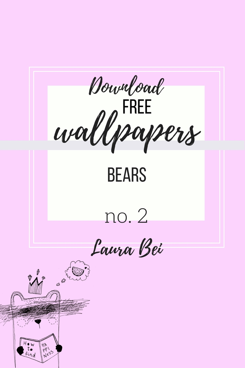 FREE cute pastel bear wallpapers for your phone!