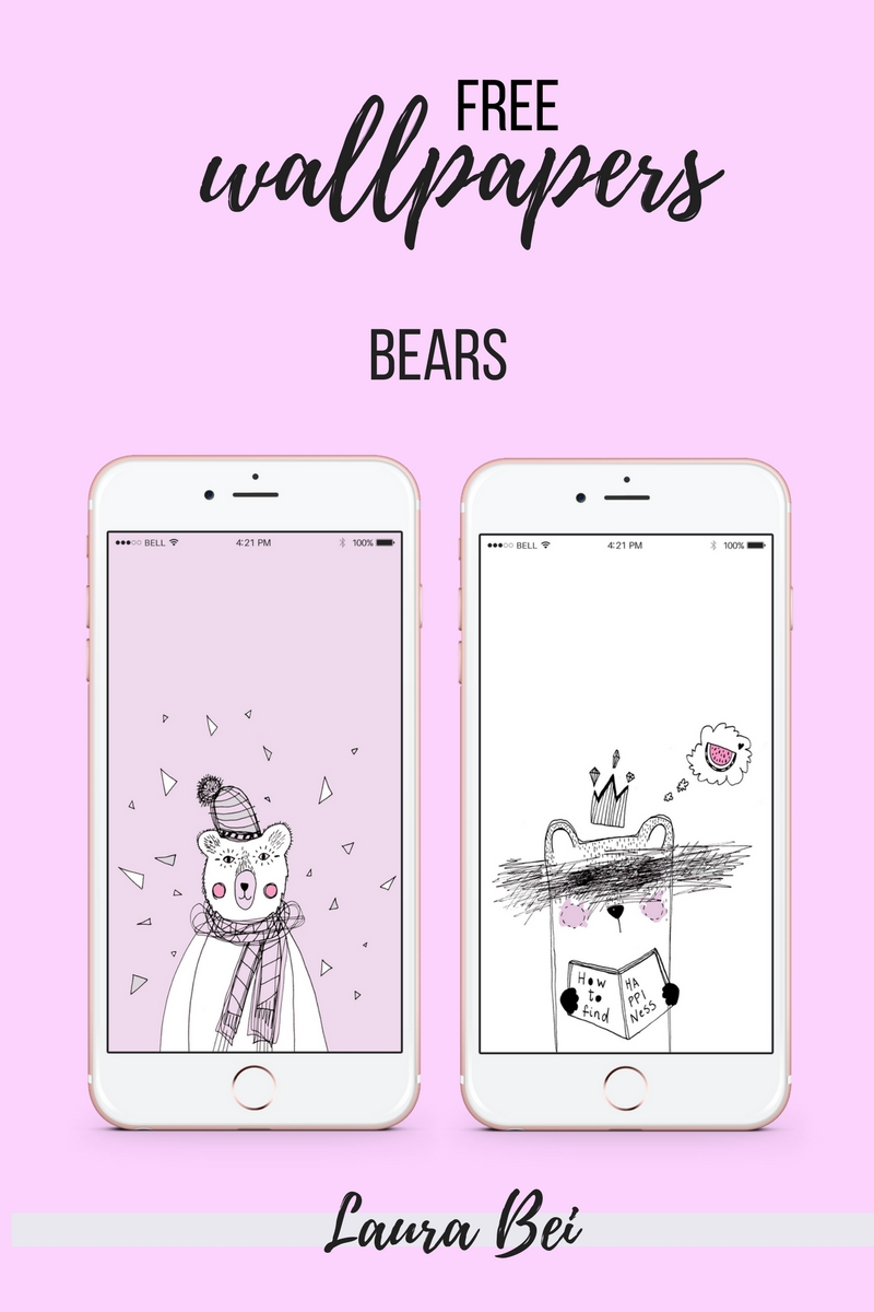 Free wallpaper illustrations to download and use for your phone. By Laura Bei.