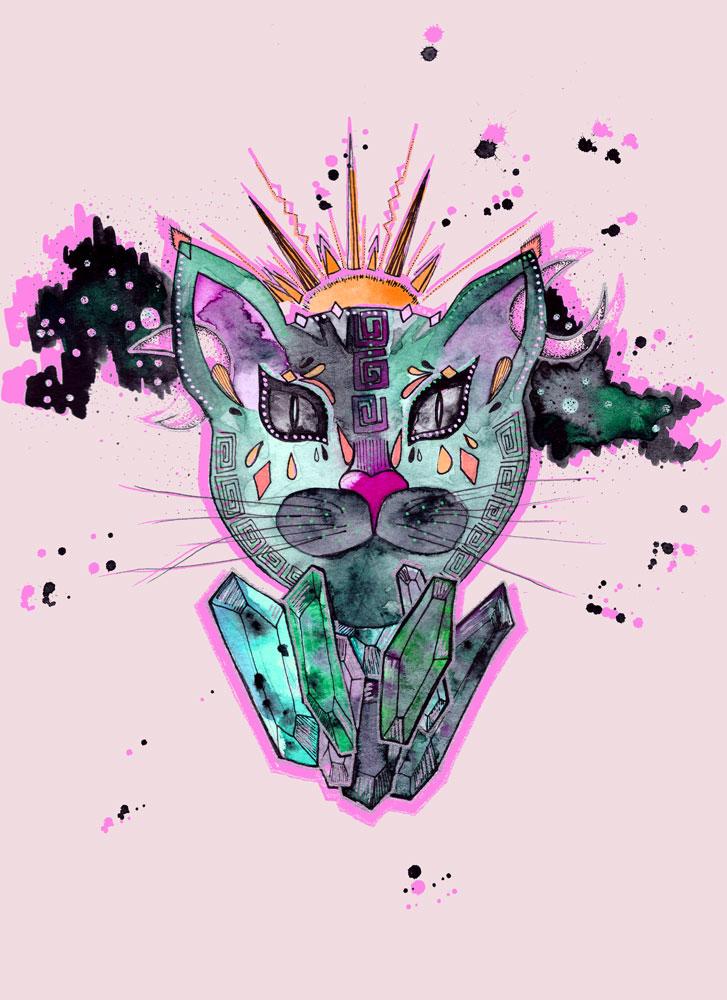 Diamond cat