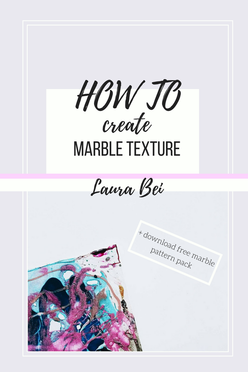 Tutorial on how to create a marble texture with nail polish