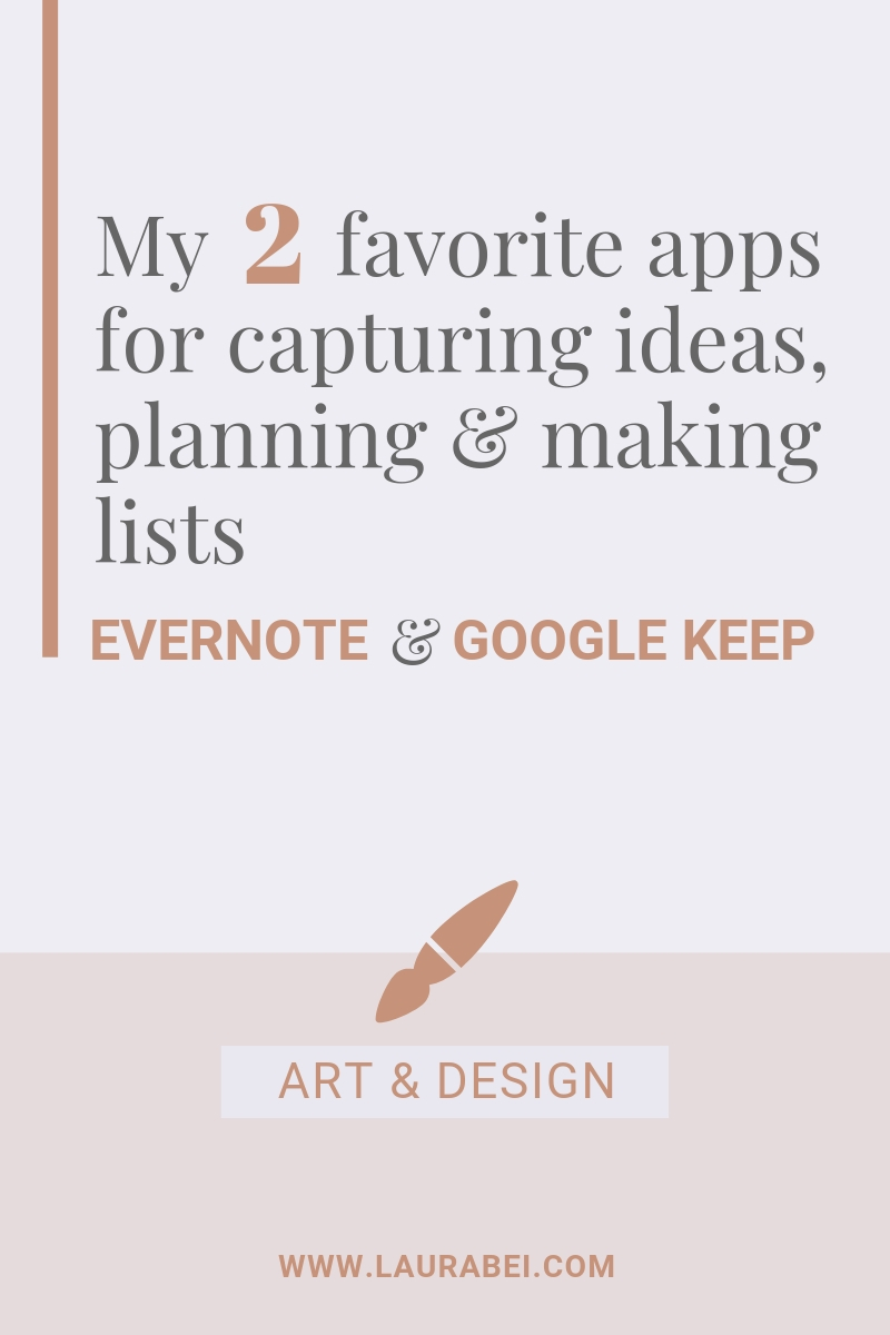 My 2 favorite apps for capturing ideas, planning & making lists - by Laura Bei.jpg