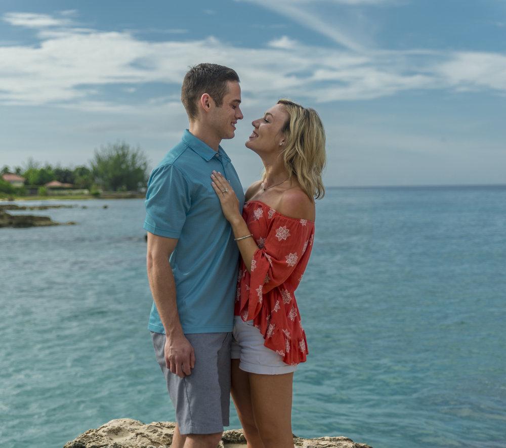 Couple in Grand Cayman Island / love