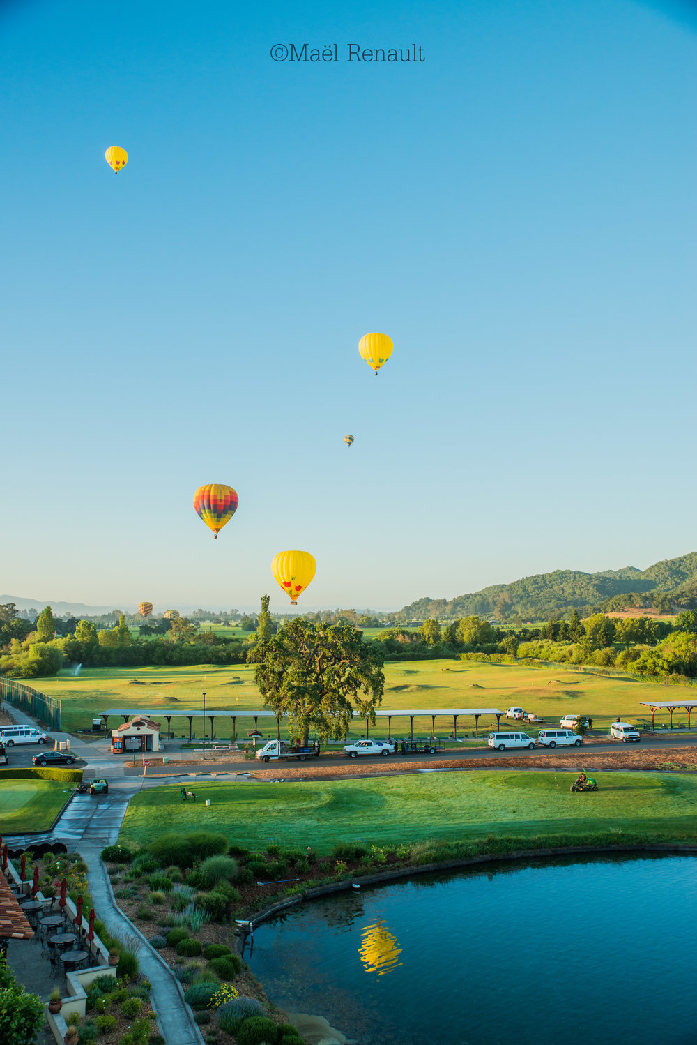 Hot air balloon / Napa Valley