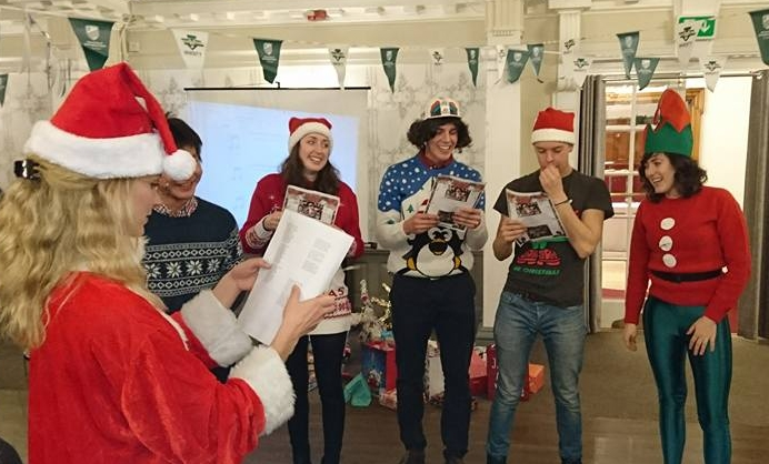 Carolling at the UoNTri Christmas Meal