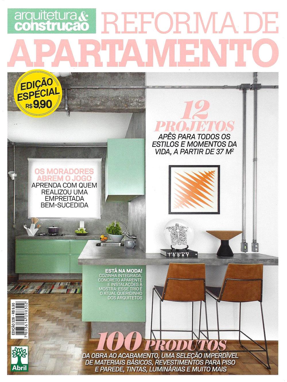 Revista Arquitetura e Constru��o Edi��o Especial 328 Foto Capa Adriano Escanhuela