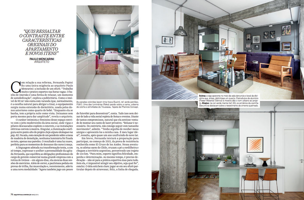 Revista Arquitetura e Constru��o LINHA DE CHEGADA Foto Adriano Escanhuela