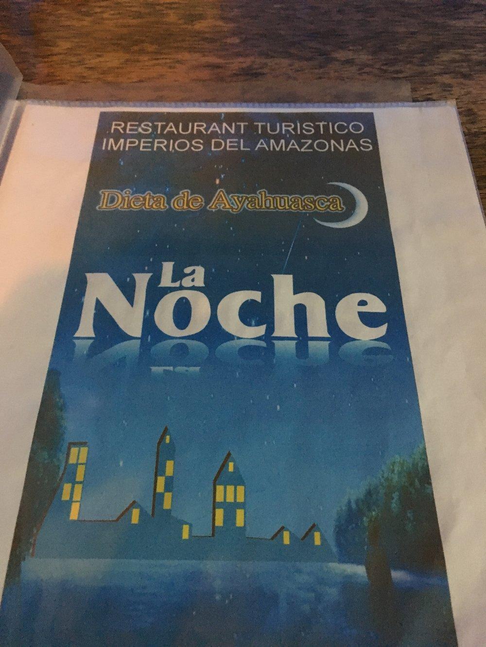 специальное меню ресторана для тех, кто приехал на ретрит