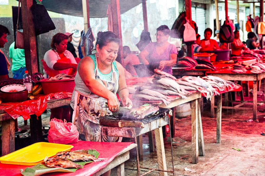 Рынок Белен в Икитосе
