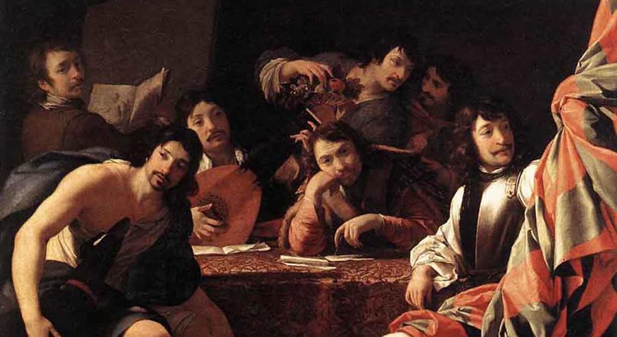 Gathering of Friends, Eustache le Sueur (1617-1655).jpg