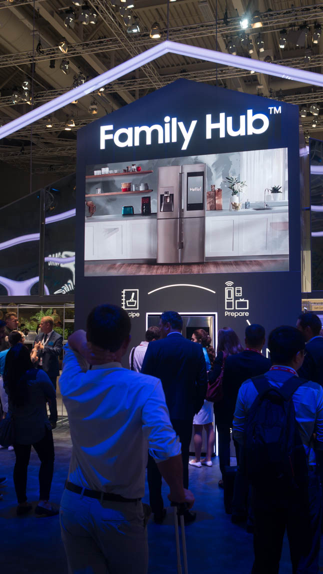 """Samsung Family Hub bringing you a 40"""" touch screen on your refrigerator. Why? Why not!"""