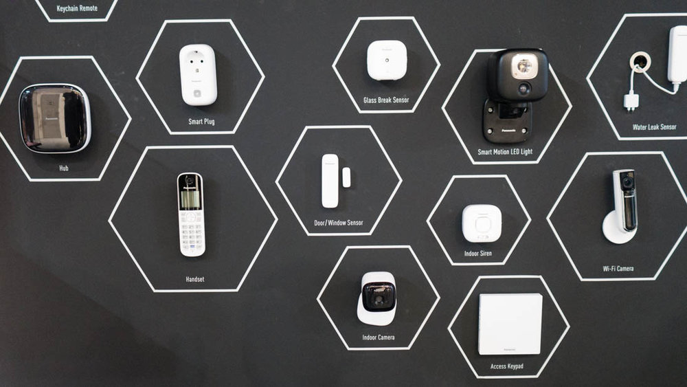 """Project Smart Home - Step 1 (apparently): Purchase an array of sensors and gadgets. """"Hi dear, don't mind me, I'm just mounting the webcam above our bed"""""""