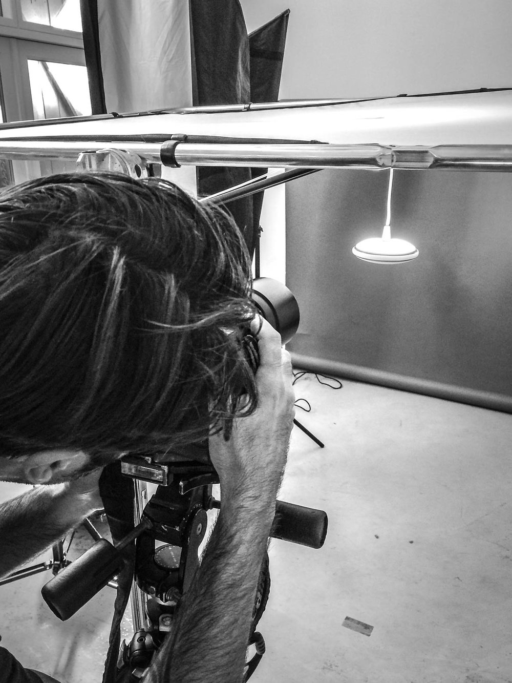 Photographer Gudmund Thai shooting product shots of the Orb