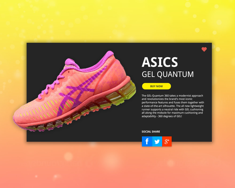 Version 1 of the social share screen challenge. This one is dedicated to my favorite running shoe brand - Asics.