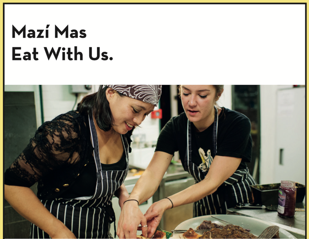 Mazi Mas, Reframing Migration caterers, a roaming restaurant serving global home cooking in the heart of London