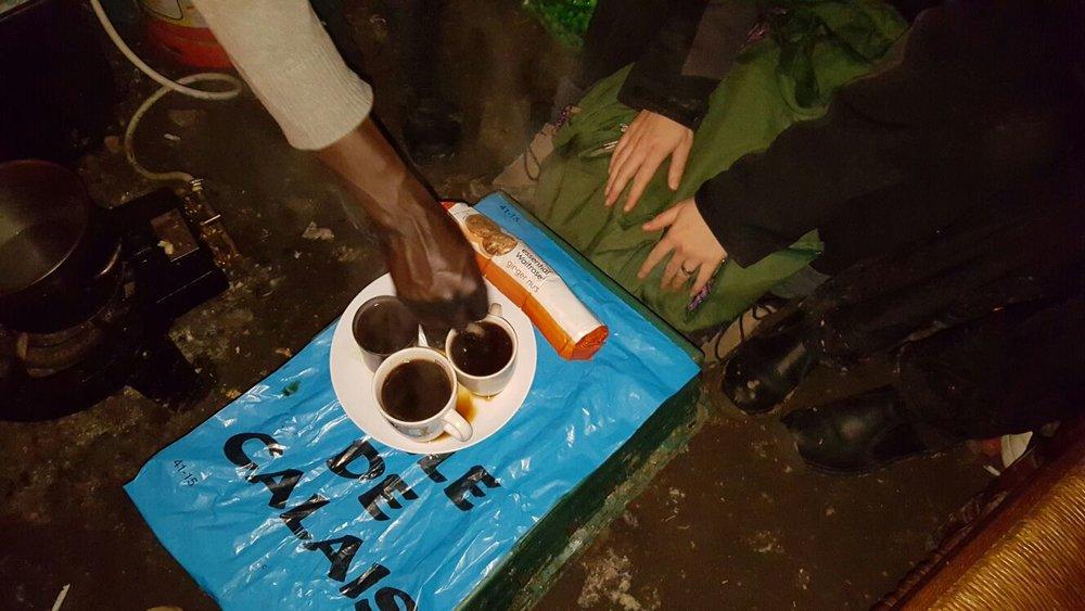 Coffee in Calais, 2015 (Photo Credit: Emily Parish)