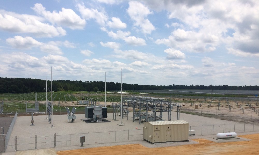 One of our most recent substation projects (Fayetteville, NC).