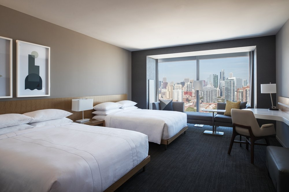 Marriott Marquis Chicago Queen Queen Guestroom