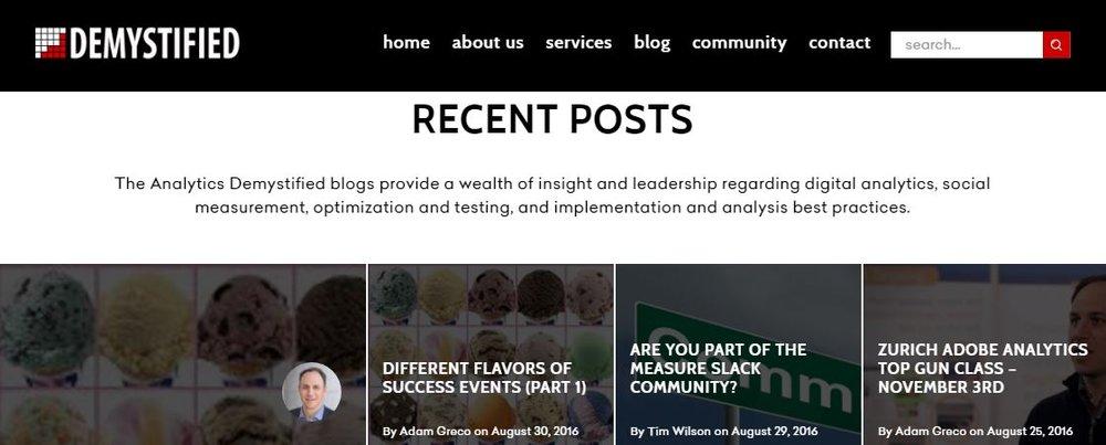 Analytics Demystified Blog